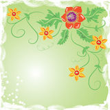 Flor do fundo de Grunge, elementos para o projeto Imagem de Stock Royalty Free
