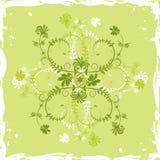 Flor do fundo de Grunge, elementos para o projeto, vetor Imagens de Stock Royalty Free
