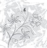 Flor do fundo de Grunge, elementos para o projeto, vetor ilustração stock