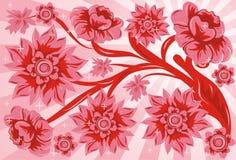 Flor do fundo, vetor Foto de Stock