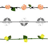 Flor do grupo de elementos do projeto Fotos de Stock Royalty Free