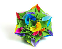 Flor do kusudama de Origami foto de stock