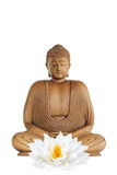 Flor do lírio de Buddha e de lótus Foto de Stock