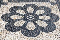 Flor do pavimento de Lisboa Fotos de Stock Royalty Free