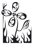 Flor do tatuagem do vetor Imagens de Stock Royalty Free