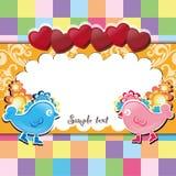 Flor do texto da amostra do amor Imagens de Stock Royalty Free