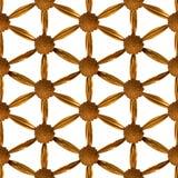 Flor dorada del modelo de la vida Imagen de archivo libre de regalías