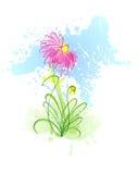 Flor dos borrões 1 ilustração stock
