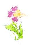 Flor dos borrões 2 ilustração do vetor