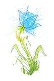 Flor dos borrões 3 ilustração stock