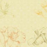 Flor drenada mano Imagen de archivo libre de regalías