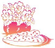 Flor e biscoito Ilustração Royalty Free