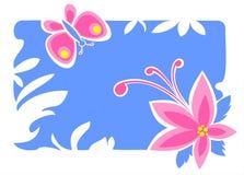 Flor e borboleta ilustração do vetor