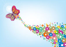 Flor e borboleta Imagem de Stock Royalty Free