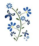 Flor e borboletas Imagens de Stock