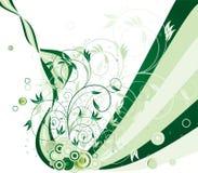 Flor e círculos Ilustração do Vetor