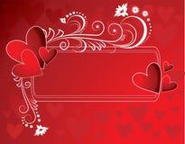 Flor e coração Imagens de Stock Royalty Free