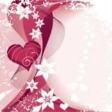 Flor e coração Imagem de Stock Royalty Free