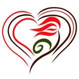 Flor e coração, teste padrão sensual, tulipa colorida ilustração royalty free
