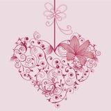 Flor e coração Fotografia de Stock Royalty Free
