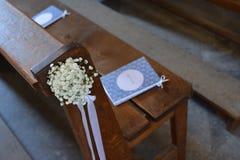 Flor e decoração cristãs do casamento imagens de stock royalty free