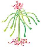 Flor e fita Ilustração Royalty Free