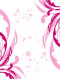 Flor e folha do grunge da mola da ilustração Imagens de Stock