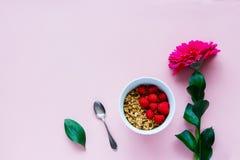 Flor e granola Fotos de Stock