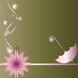 Flor e guarda-chuva Imagem de Stock