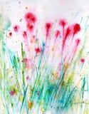 Flor e hierba pintadas a mano Imagen de archivo