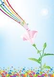 Flor e música Imagens de Stock