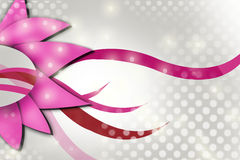 Flor e ondas cor-de-rosa, fundo abstrato Imagens de Stock