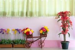 Flor e sibilo do fundo Imagens de Stock