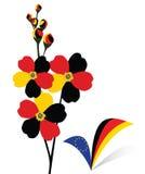 Flor e tiquetaque ilustração royalty free