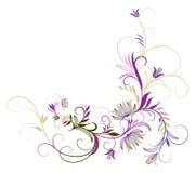 Flor e videiras roxas Foto de Stock Royalty Free