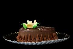 Flor em um bolo Fotos de Stock Royalty Free