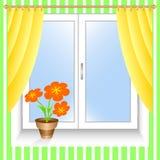 Flor em um indicador. Imagens de Stock Royalty Free
