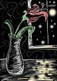 Flor en el vector Stock de ilustración