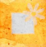 Flor en fondo del grunge Fotos de archivo libres de regalías