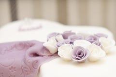 Flor en la torta Imagen de archivo libre de regalías