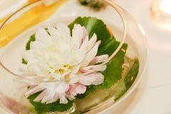 Flor en un tazón de fuente Foto de archivo