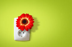 Electricidad verde Imágenes de archivo libres de regalías