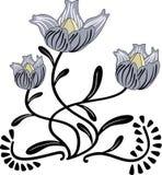 Flor estilizada stock de ilustración