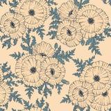 Flor estilizado da papoila ilustração royalty free