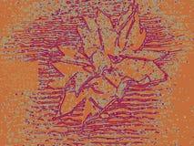 A flor estrutural com uma pluralidade alinha o fundo marrom ilustração stock
