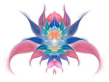 Flor exótica abstrata no fundo branco Imagens de Stock Royalty Free