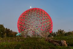 A flor famosa da m?quina do mundo Flora Exposition de Taichung imagens de stock royalty free