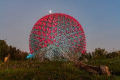 A flor famosa da m?quina do mundo Flora Exposition de Taichung fotos de stock royalty free