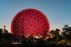 A flor famosa da m?quina do mundo Flora Exposition de Taichung imagens de stock