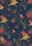 Flor faun wzór Fotografia Stock